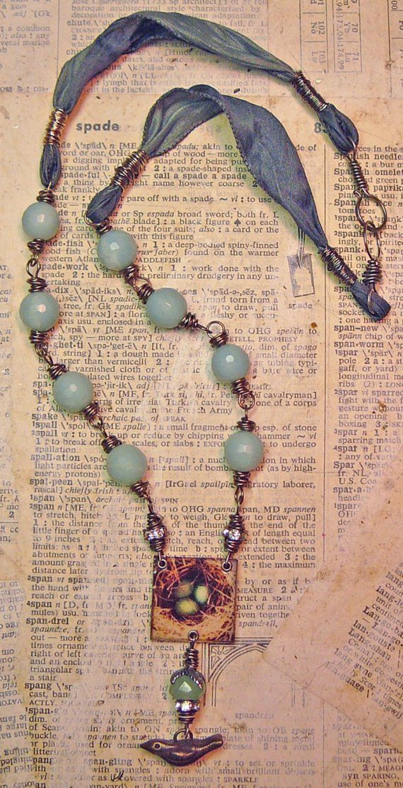 beads, birds and ribbons