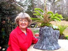 Portland Cement Stump Flower Pot In Ga. - YouTube