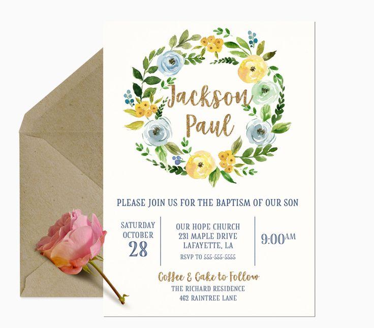 1000  ideas about christening invitations boy on pinterest