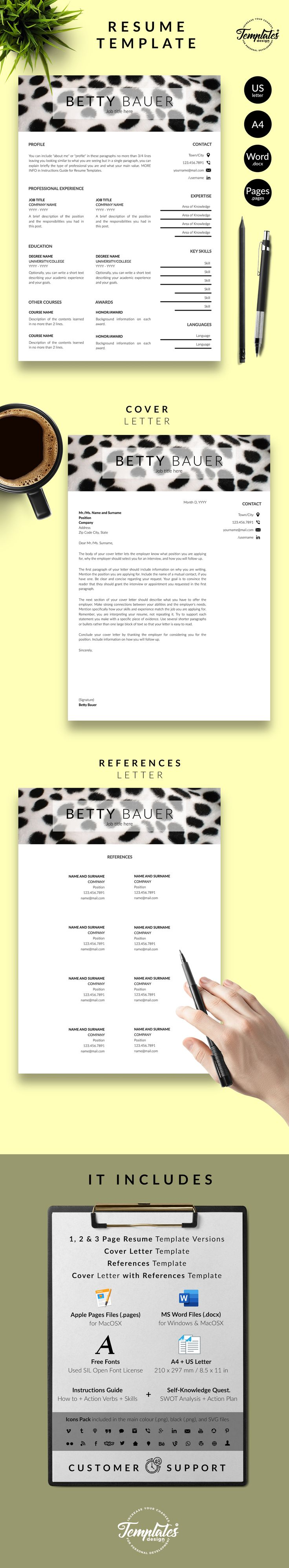 Pet care resume animal care cv template for word pages