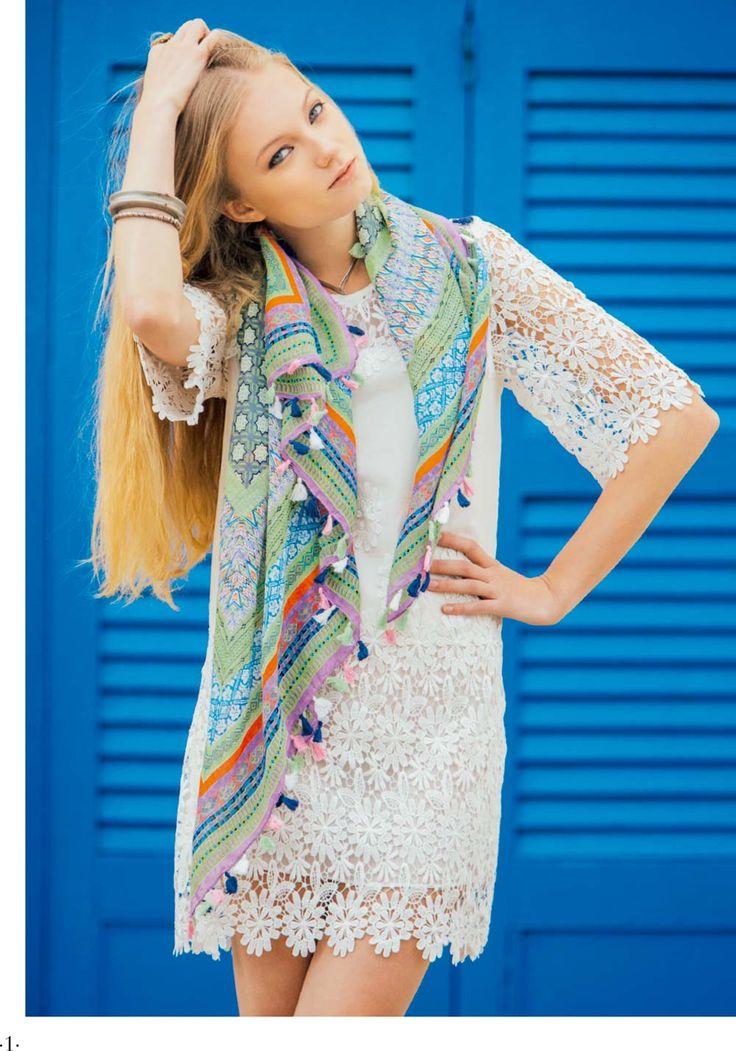 Rosalita McGee catalogue - Spring Summer 15 - Rosalita McGee - Tienda Online #whiteforsummer #whitestyle #whitedress #vestidoblanco #vestidomediamanga #blancototal #vestidoguipur #guipurdress #rosalitamcgee