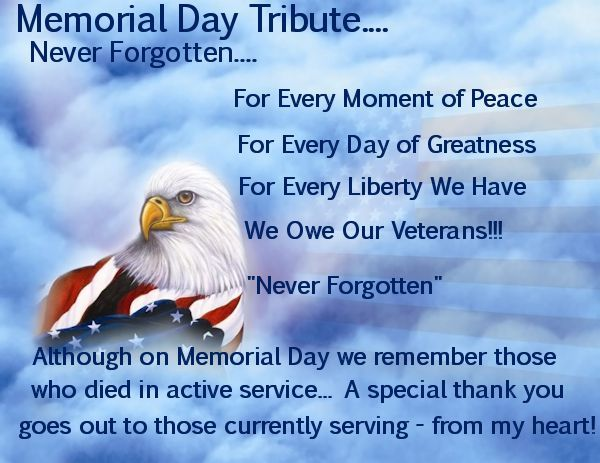 memorial day tribute sayings
