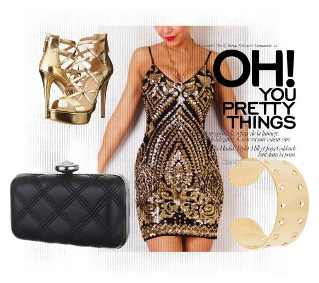 """""""Gold-black sequins set"""" by maniaxtreme on Polyvore featuring Isabel Marant and GUESS"""
