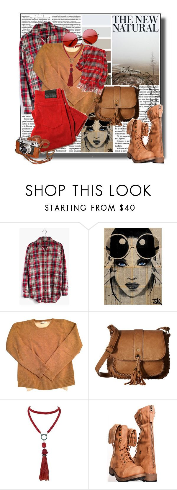 """""""The new natural...."""" by tinuviela ❤ liked on Polyvore featuring Madewell, Sandro, Gabriella Rocha and Marina J."""