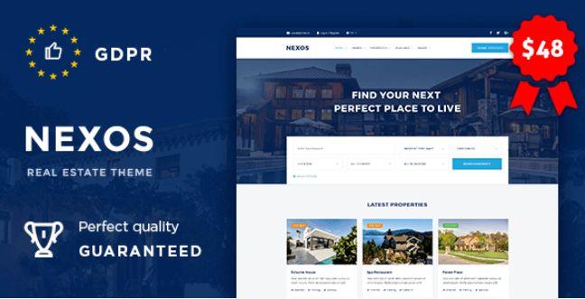 Nexos v1.2 – Real Estate Agency Directory WordPress theme