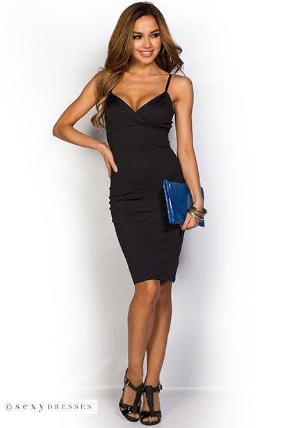 Black strap dress