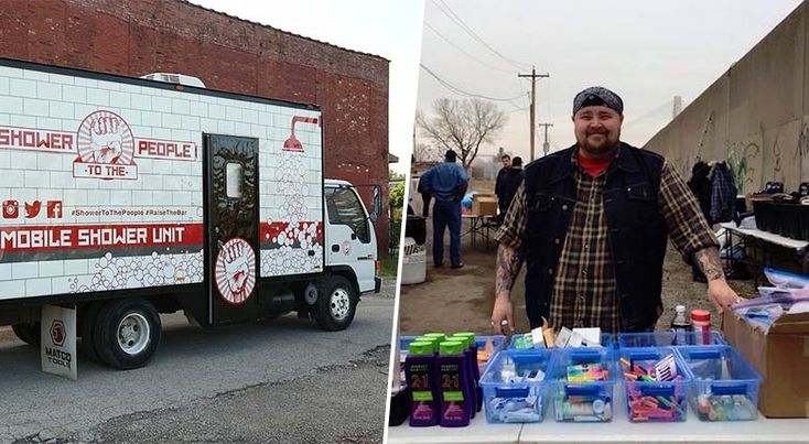 Cet homme a créé un «camion salle de bain» pour les sans-abris