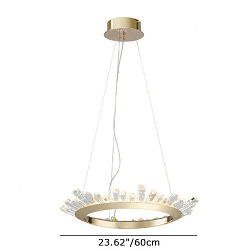 Modern Crystal Circal LED Chandelier in Brass for …