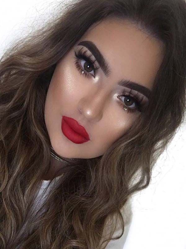 Perfect Look With Red Lipstick For Valentine Day Of 2019 Pink