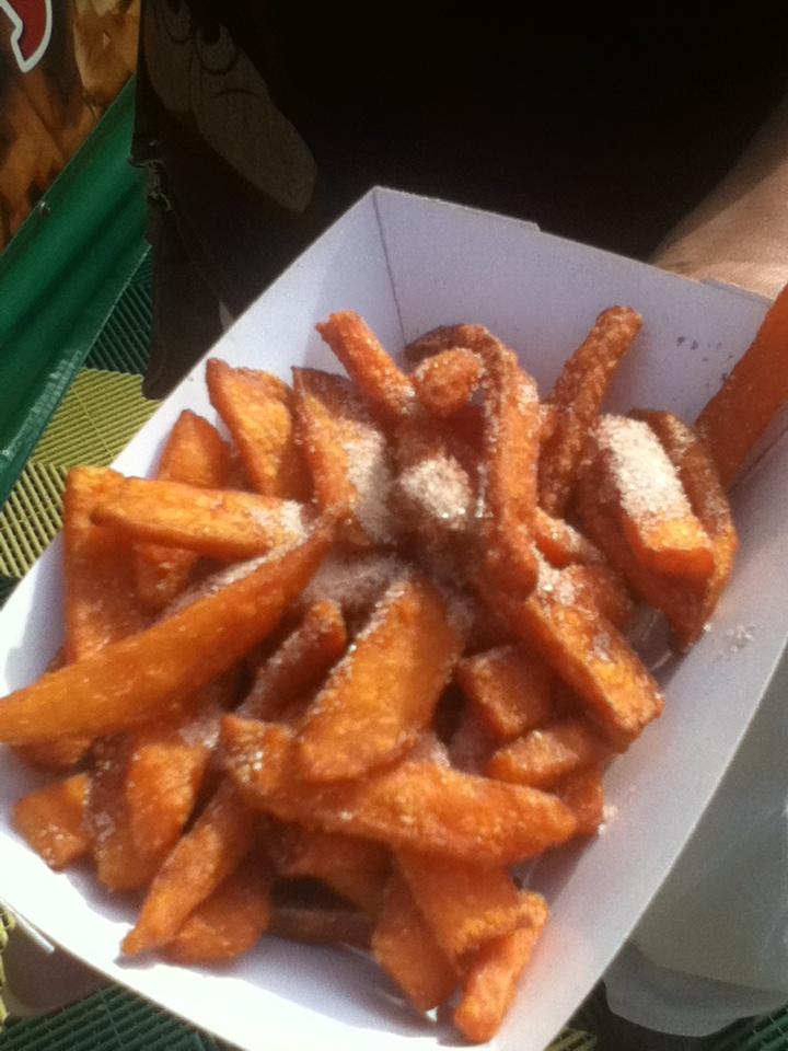 Cinnamon Sugar Sweet Potato Fries from Fresh Frys LA County Fair