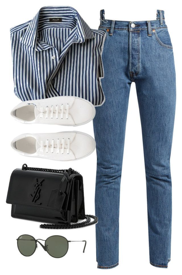 """""""Untitled #3791"""" by theaverageauburn on Polyvore featuring Vetements, Yves Saint Laurent and Ray-Ban #casualoutfits"""