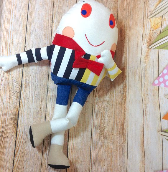 #Humpty Dumpty, Humpty Dumpty Toy, Humpty Dumpty Doll, #Nursery Rhyme, Story Book Toy   This Humpty Dumpty is a soft toy and isn't afraid of great falls!  Ideal gift for chil... #nursery #humpty