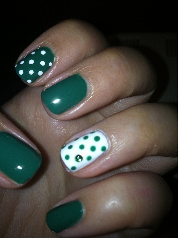 Cute dots and rhinestone