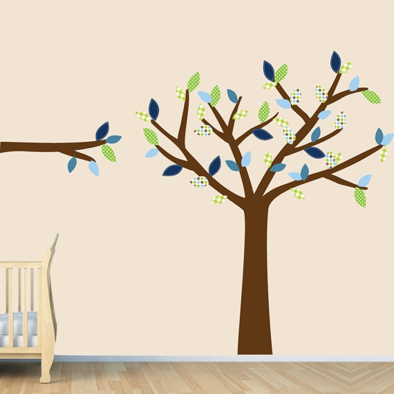 Large Tree Wall Decals, Cheap Tree Wall Decal (Green Envy ...