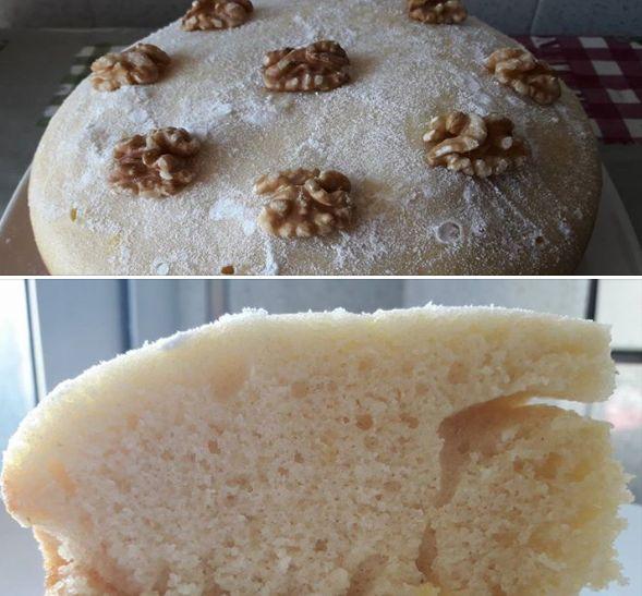BIZCOCHO DE NATA FUSSIONCOOK:Mezclar 5 huevos, 250gr harina trigo, 250gr azucar, 60ml aceite oliva, 200ml nata montar, 1 sobre levadura, 10gr azucar vainillado o gotas, pellizco sal. Menu cake 35mn en cubeta engrasada y decorar con azucar glass o normal.