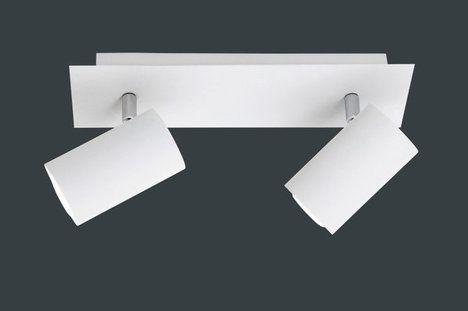 28€ --- Möbel ROLLER--- nur online --- Deckenstrahler TUBE 2-flammig - Metall weiß