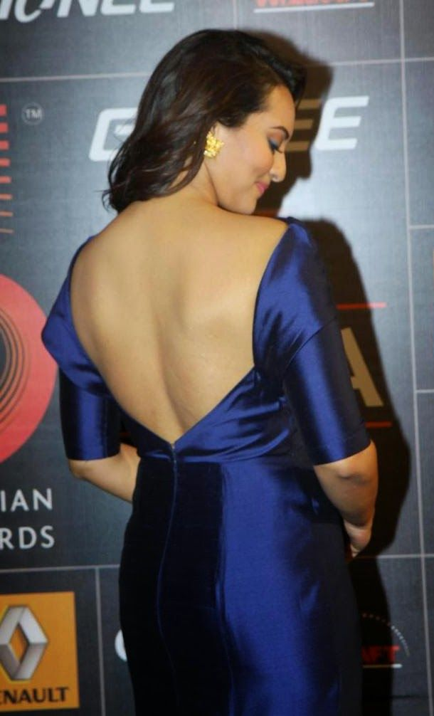 Bollywood Actress Sonakshi Sinha In Bare Back Backless In -3423