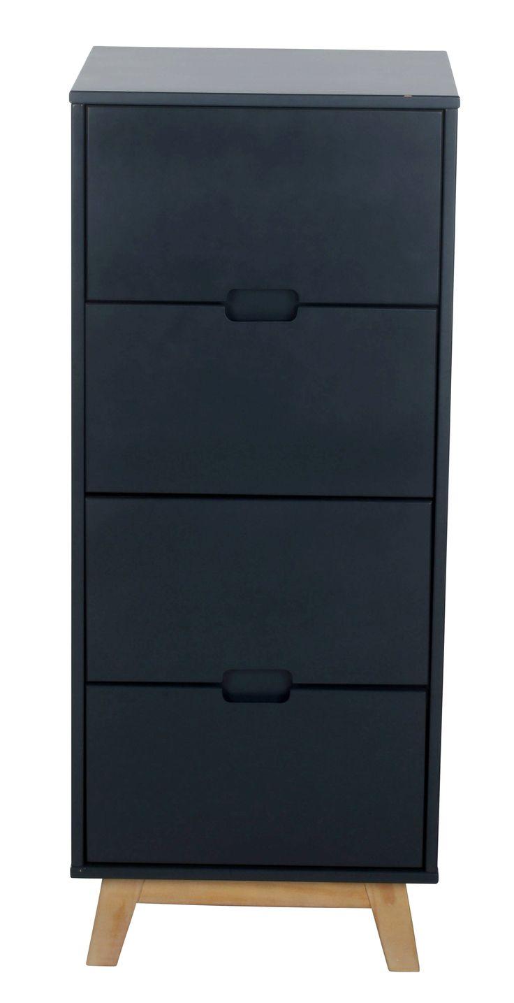 chiffonnier 4 tiroirs su de gris anthracite en 2019 tendance bureaux chiffonnier tiroir et. Black Bedroom Furniture Sets. Home Design Ideas
