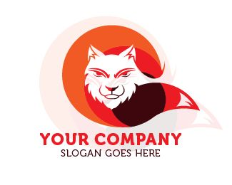 logo wolf tail Logo design - this logo wolf for entertainment and media  Price $85.00