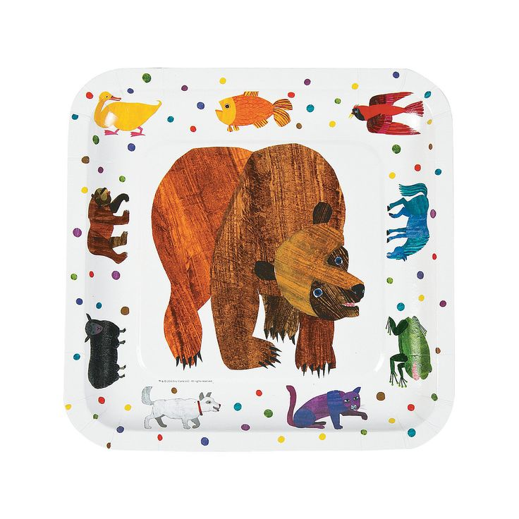 Eric Carle Brown Bear, Brown Bear, What Do You See? Dinner Plates - OrientalTrading.com