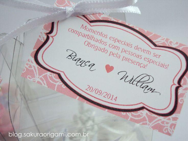 Lembrancinhas de Casamento: Bianca & William - SakuraOrigami.com.br