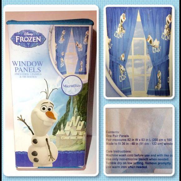 Disney Frozen Olaf Other - Disney Frozen FUN WITH OLAF Window Curtains