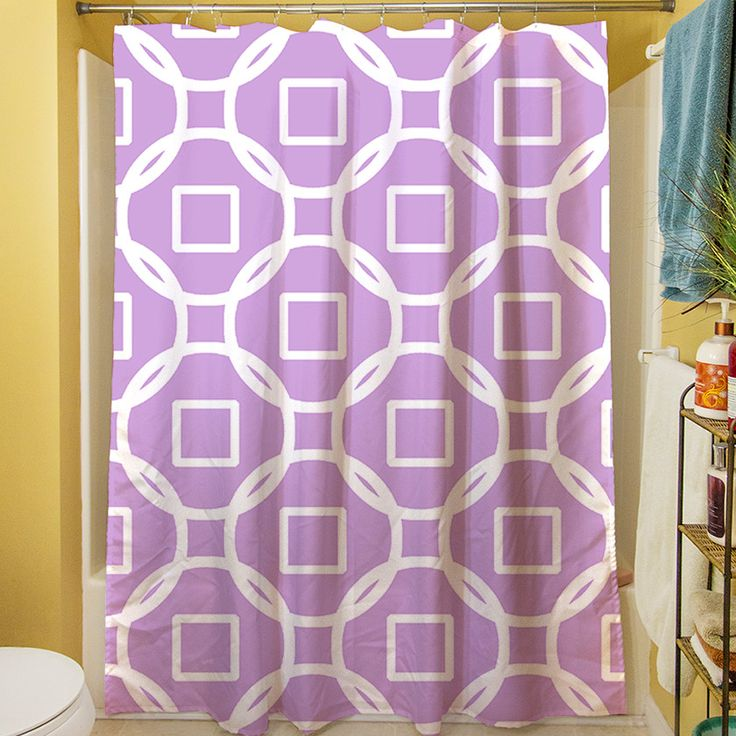 Modern Geometric Lavender Shower Curtain