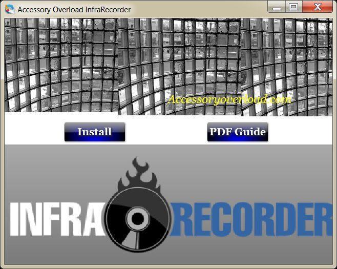 Infra recorder CD-DVD Burning Software Solution for Micrsoft Windows