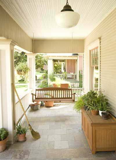 17 best images about backyard porch ideas on pinterest for Covered porch flooring options