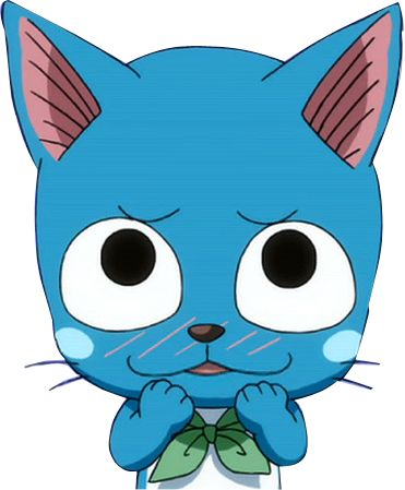 "Happy The Cat from fairy tale | Render Fairy Tail - Renders Fairy Tail Happy ""You liiiiike him..."""