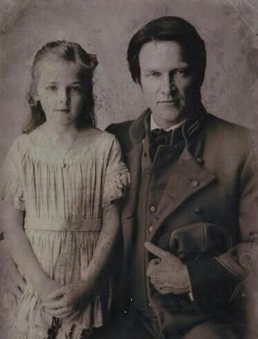 Bill and his little daughter before he went off to war.