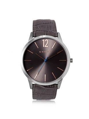 50% OFF Cross Men's CR8003-05 Franklin Brown/Grey Stainless Steel Watch