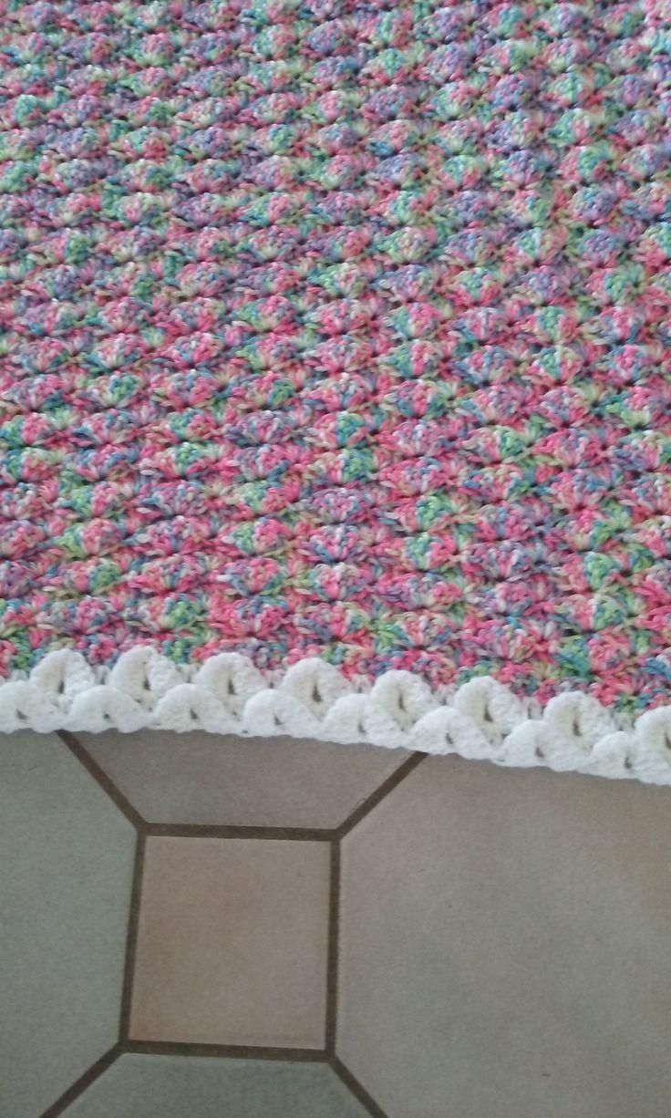 Elaine's Mermaid Blanket Top view