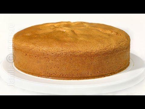 Blat de tort cu vanilie - reteta video | JamilaCuisine