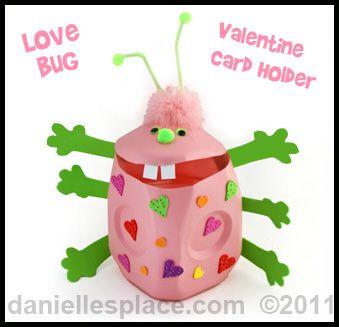 Milk Jug Love Bug Valentine Card Holder from www.daniellesplace.com