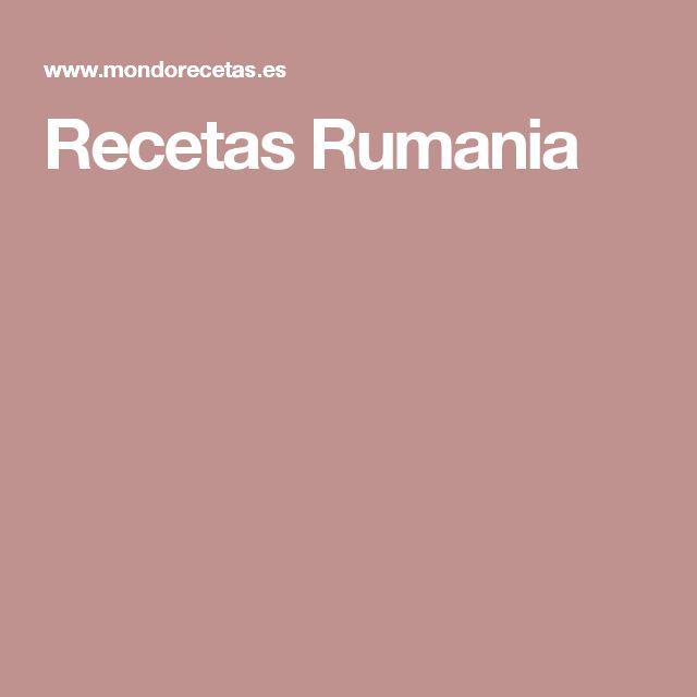 Recetas Rumania