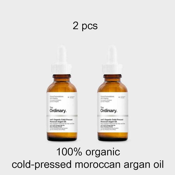 THE ORDINARY 2pcs 100% organic cold-pressed moroccan argan oil 30ml for hair  #TheOrdinary