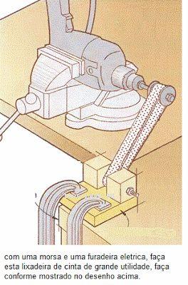 Ah! E se falando em madeira...: quadro de dicas - lixadeira