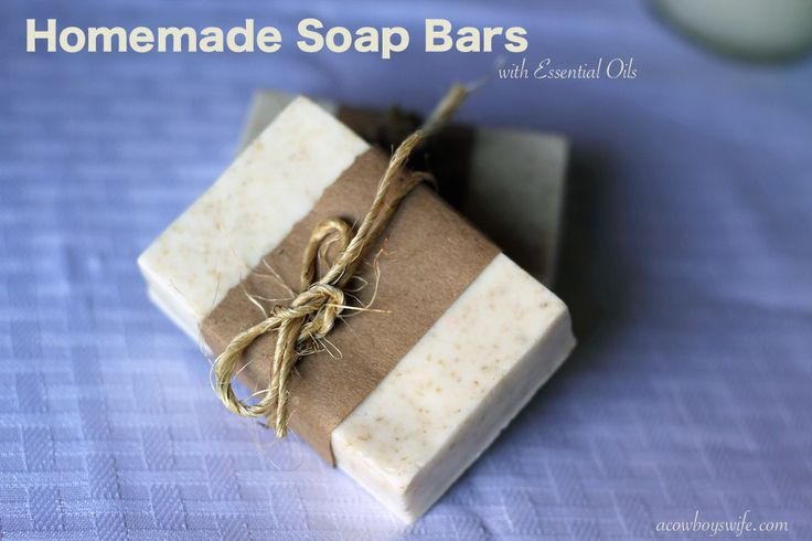 Homemade Soap Bars with essential oils (Young Living of course, they are the best!) - easy to make y'all!!