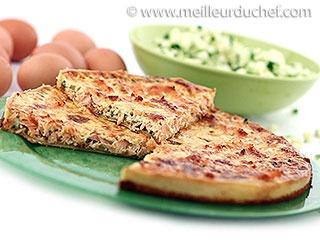 Tarte au saumon et courgettes   #tarte  #saumon  #cougettes