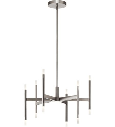 Elan 84175 Kizette Brushed Nickel Chandelier Ceiling Light