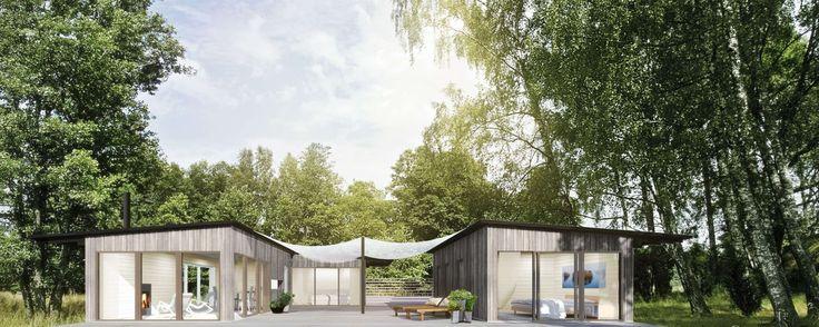 Landet - exterior. www.sommarnojen.se  #summerhouse #architecture #skandinaviskdesign #skandinaviskarkitektur #sommarhus #fritidshus #naturmaterial