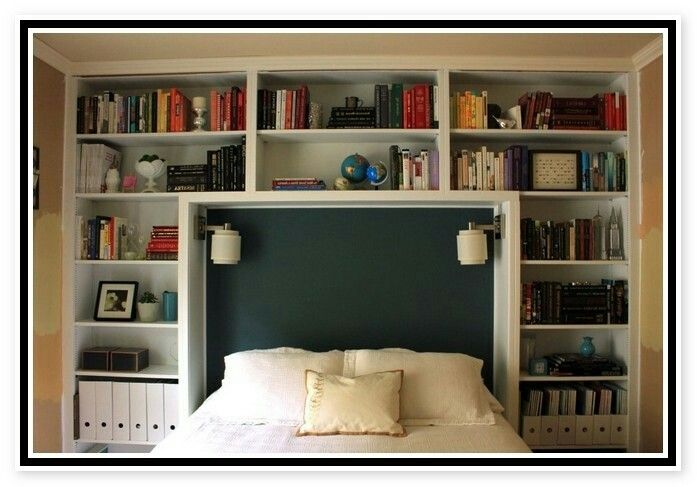 19 Best Beds With Bookcase Headboards Images On Pinterest