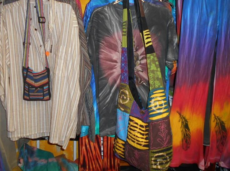 The ever so colourful Hope Shop on the south coast of South Africa. You can find or clothing there