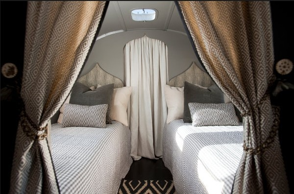 AirstreamGlamping, Campers, Airstream Interiors, Camps, Twin Beds, Travel Trailers, Bedrooms, Airstream Dreams, Airstream Trailers