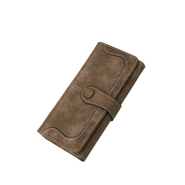 Wallet with zipper artificial leather long zipper wallet multi card