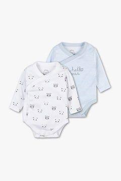 d6a6803c3 Baby Club Bodies para bebé - Algodón orgánico - Pack de 2
