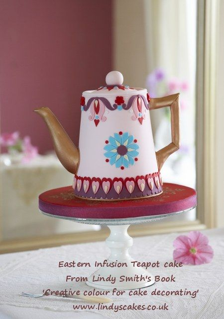 Eastern Infusion teapot cake or coffee pot cake Creative from Lindy Smith's 'colour for cake decorating' book
