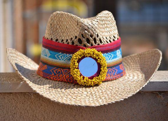 SUMMER HAT HANDMADE Hat Folk Hat Multicolor Hat por MISIGABRIELLA