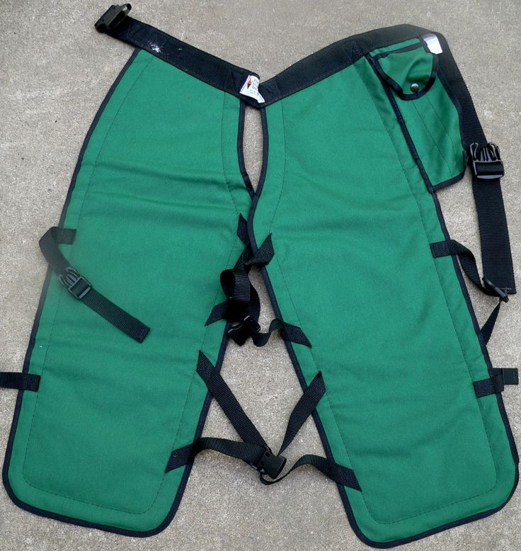 """Forestry Suppliers 2 ply crowfoot Kevlar chainsaw pants chaps green black 32""""  #ForestrySuppliersInc"""
